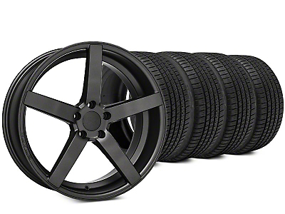 Rovos Durban Satin Gunmetal & Michelin Pilot Sport A/S 3+ Tire Kit - 20x8.5 (15-18 All)