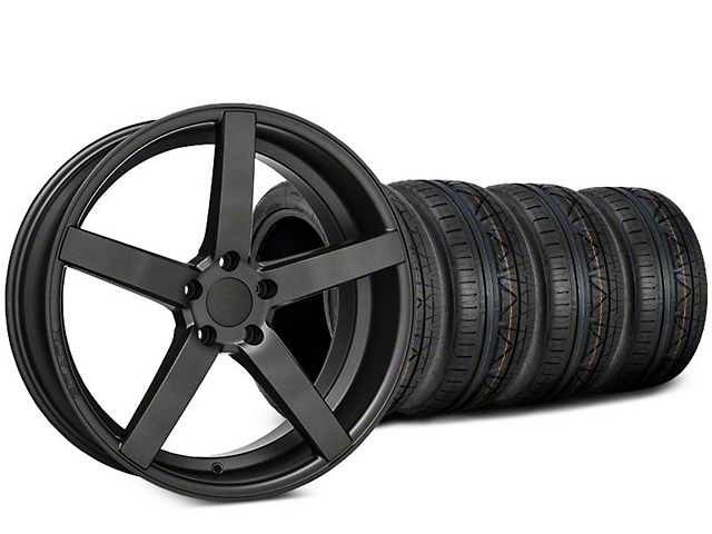 Rovos Durban Satin Gunmetal & NITTO INVO Tire Kit - 20x8.5 (15-19 GT, EcoBoost, V6)