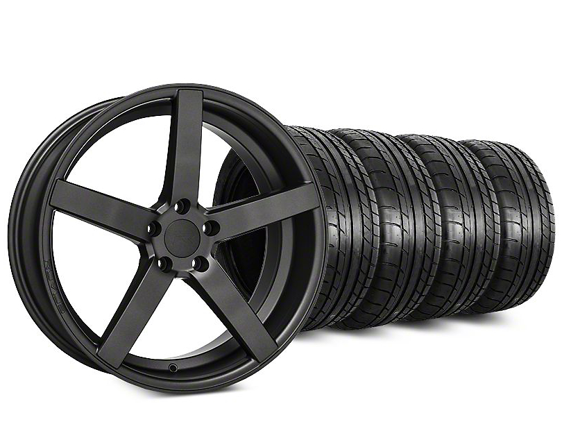 Rovos Durban Satin Gunmetal & Mickey Thompson Street Comp Tire Kit - 20x8.5 (15-19 GT, EcoBoost, V6)