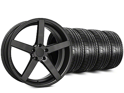 Rovos Durban Satin Gunmetal & Mickey Thompson Street Comp Tire Kit - 20x8.5 (15-18 GT, EcoBoost, V6)