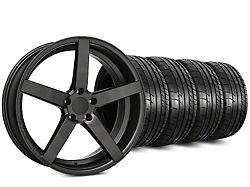 Rovos Wheels Rovos Durban Satin Gunmetal and Mickey Thompson Street Comp Tire Kit; 20x8.5 (15-21 GT, EcoBoost, V6)