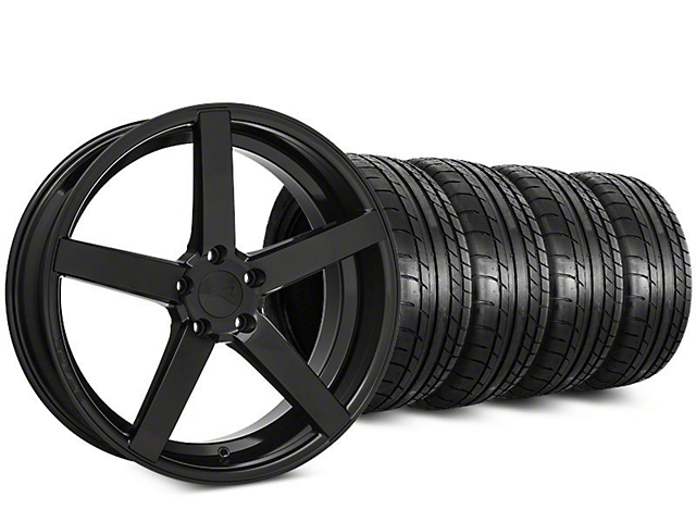 Rovos Durban Gloss Black & Mickey Thompson Street Comp Tire Kit - 20x8.5 (15-18 GT, EcoBoost, V6)
