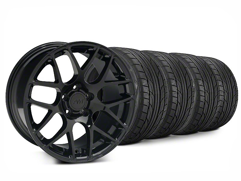 AMR Black Wheel & NITTO NT555 G2 Tire Kit - 20x8.5 (15-20 GT, EcoBoost, V6)