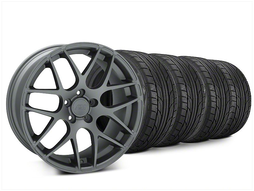 AMR Charcoal Wheel & NITTO NT555 G2 Tire Kit - 20x8.5 (15-19 GT, EcoBoost, V6)