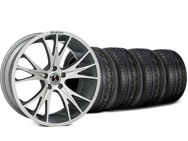 Staggered Shelby CS1 Hyper Silver Wheel & NITTO INVO Tire Kit - 20x9 (15-18 GT, EcoBoost, V6)