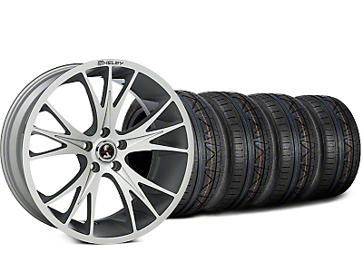 Staggered Shelby CS1 Hyper Silver Wheel & NITTO INVO Tire Kit - 20x9 (15-17 All)