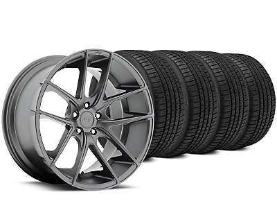 Staggered Niche Targa Matte Anthracite Wheel & Michelin Pilot Sport A/S 3+ Tire Kit - 19x8.5/9.5 (15-19 All)