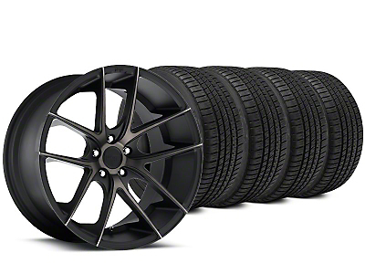 Staggered Niche Targa Matte Black Wheel & Michelin Pilot Sport A/S 3+ Tire Kit - 19x8.5/9.5 (15-17 All)