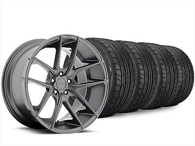 Staggered Niche Targa Matte Anthracite Wheel & NITTO NT555 G2 Tire Kit - 20x8.5/10 (15-18 All)