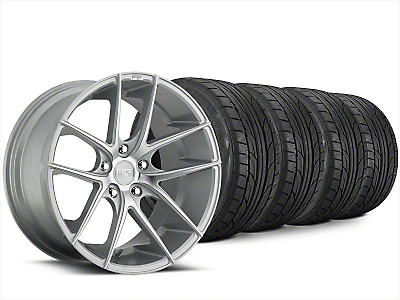 Staggered Niche Targa Matte Silver Wheel & NITTO NT555 G2 Tire Kit - 20x8.5/10 (15-19 All)