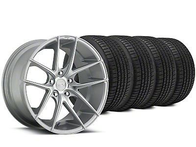 Staggered Niche Targa Matte Silver Wheel & Michelin Pilot Sport A/S 3+ Tire Kit - 20x8.5/10 (15-18 All)