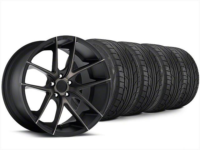Staggered Niche Targa Matte Black Wheel & NITTO NT555 G2 Tire Kit - 20x8.5/10 (15-19 All)
