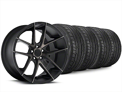 Staggered Niche Targa Matte Black Wheel & NITTO NT555 G2 Tire Kit - 20x8.5/10 (15-18 All)
