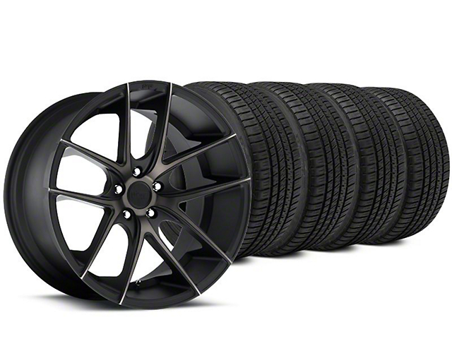 Staggered Niche Targa Matte Black Wheel & Michelin Pilot Sport A/S 3+ Tire Kit - 20x8.5/10 (15-17 All)