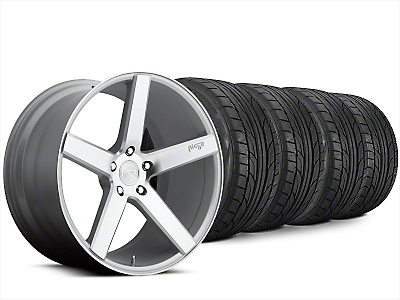 Staggered Niche Milan Silver Wheel & NITTO NT555 G2 Tire Kit - 20x8.5/10 (15-18 All)