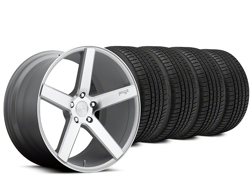 Staggered Niche Milan Silver Wheel & Michelin Pilot Sport A/S 3+ Tire Kit - 20x8.5/10 (15-18 All)