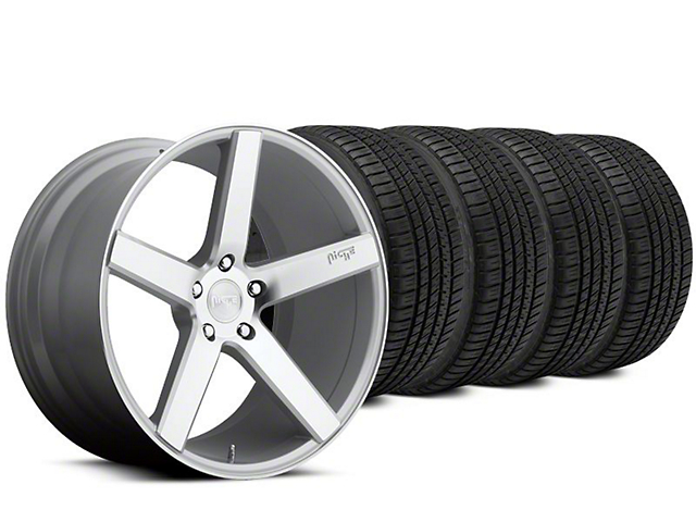 Staggered Niche Milan Silver Wheel & Michelin Pilot Sport A/S 3+ Tire Kit - 20x8.5/10 (15-17 All)