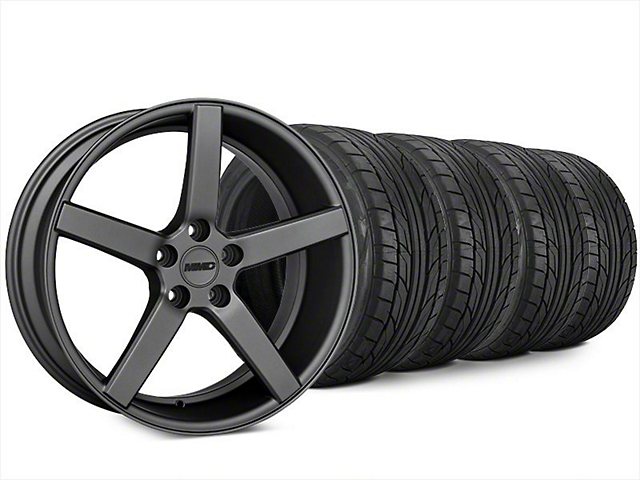 Staggered MMD 551C Charcoal Wheel & NITTO NT555 G2 Tire Kit - 20x8.5/10 (15-17 GT, EcoBoost, V6)