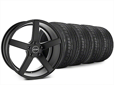 Staggered MMD 551C Matte Black Wheel & NITTO NT555 G2 Tire Kit - 20x8.5/10 (15-18 GT, EcoBoost, V6)