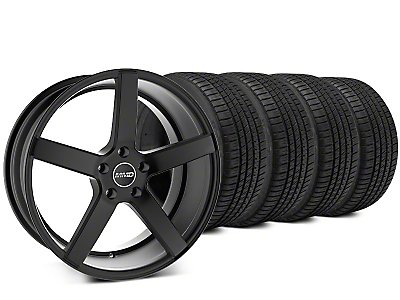Staggered MMD 551C Matte Black Wheel & Michelin Pilot Sport A/S 3+ Tire Kit - 20x8.5/10 (15-17 GT, EcoBoost, V6)