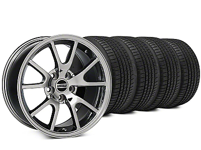 Staggered FR500 Style Chrome Wheel & Michelin Pilot Sport A/S 3+ Tire Kit - 20x8.5/10 (15-17 All)