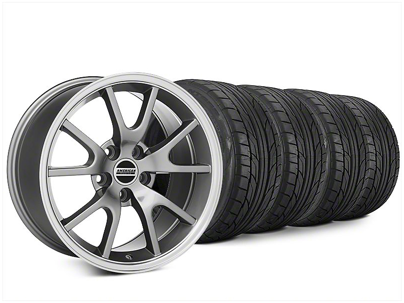 Staggered FR500 Style Anthracite Wheel & NITTO NT555 G2 Tire Kit - 20x8.5/10 (15-18 All)