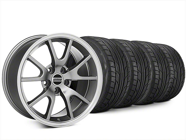 Staggered FR500 Style Anthracite Wheel & NITTO NT555 G2 Tire Kit - 20x8.5/10 (15-17 All)