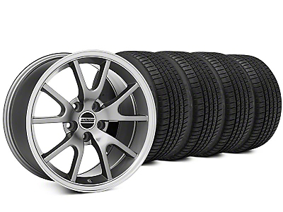 Staggered FR500 Style Anthracite Wheel & Michelin Pilot Sport A/S 3+ Tire Kit - 20x8.5/10 (15-18 All)