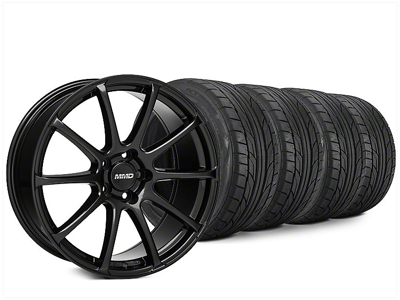 Staggered MMD Axim Black Wheel & NITTO NT555 G2 Tire Kit - 20x8.5/10 (15-18 All)