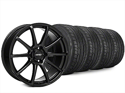 Staggered MMD Axim Black Wheel & NITTO NT555 G2 Tire Kit - 20x8.5/10 (15-17 All)