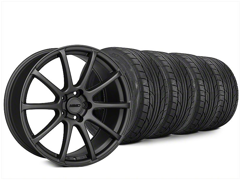 Staggered MMD Axim Charcoal Wheel & NITTO NT555 G2 Tire Kit - 20x8.5/10 (15-17 All)