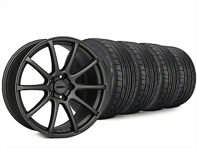 Staggered MMD Axim Charcoal Wheel & NITTO NT555 G2 Tire Kit - 20x8.5/10 (15-18 All)