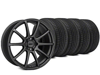 Staggered MMD Axim Charcoal Wheel & Michelin Pilot Sport A/S 3+ Tire Kit - 20x8.5/10 (15-18 All)