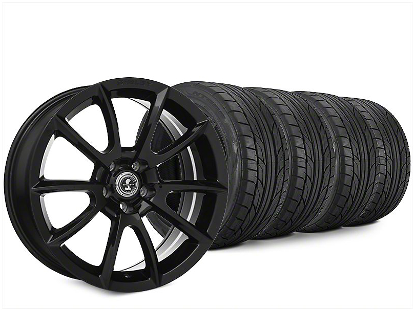 Staggered Super Snake Style Black Wheel & NITTO NT555 G2 Tire Kit - 20x9/10 (15-17 All)