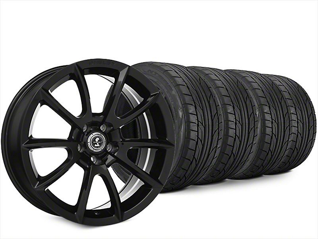 Staggered Super Snake Style Black Wheel & NITTO NT555 G2 Tire Kit - 20x9/10 (15-18 All)