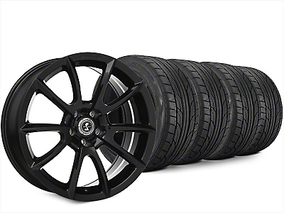 Staggered Super Snake Style Black Wheel & NITTO NT555 G2 Tire Kit - 20x9/10 (15-19 All)