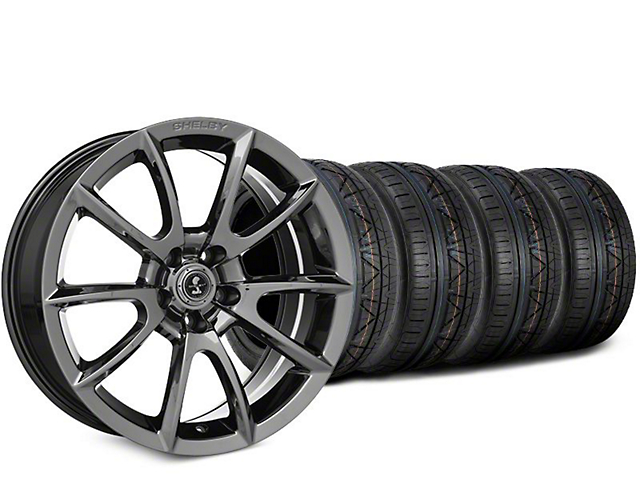 Staggered Super Snake Style Chrome Wheel & NITTO INVO Tire Kit - 19x8.5/10 (15-18 All)