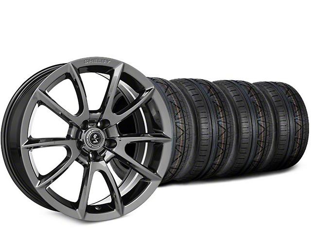 Staggered Super Snake Style Chrome Wheel & NITTO INVO Tire Kit - 19x8.5/10 (15-19 GT, EcoBoost, V6)