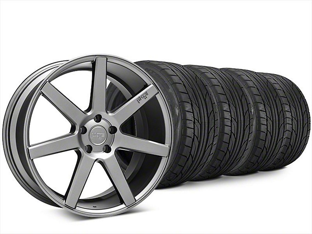 Staggered Niche Verona Anthracite Wheel & NITTO NT555 G2 Tire Kit - 20x9/10 (15-17 All)