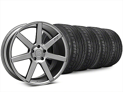 Staggered Niche Verona Anthracite Wheel & NITTO NT555 G2 Tire Kit - 20x9/10 (15-18 All)