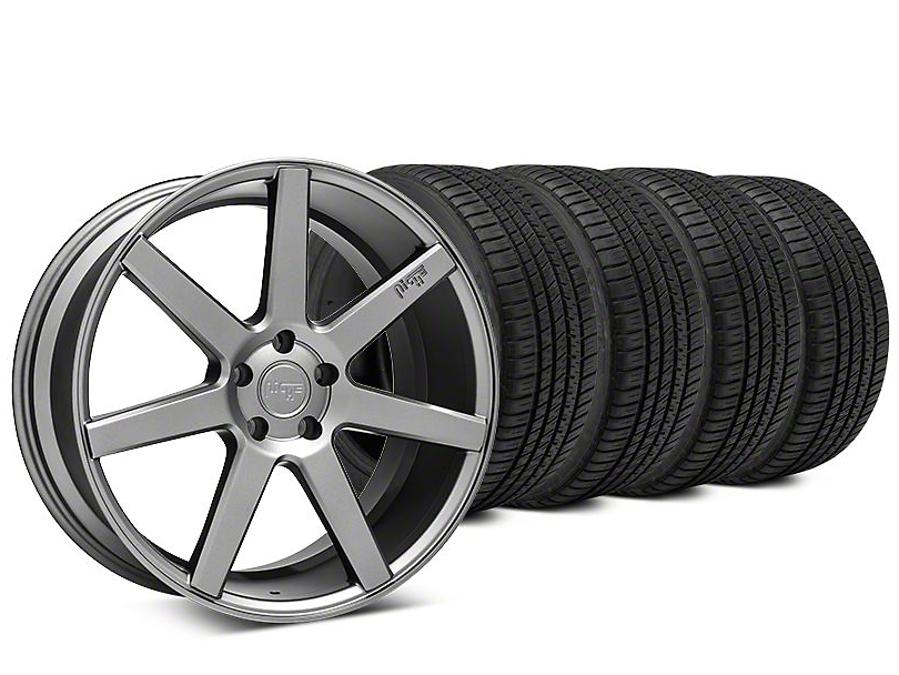 Staggered Niche Verona Anthracite Wheel & Michelin Pilot Sport A/S 3+ Tire Kit - 20x9/10 (15-19 All)