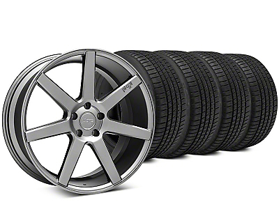 Staggered Niche Verona Anthracite Wheel & Michelin Pilot Sport A/S 3+ Tire Kit - 20x9/10 (15-18 All)