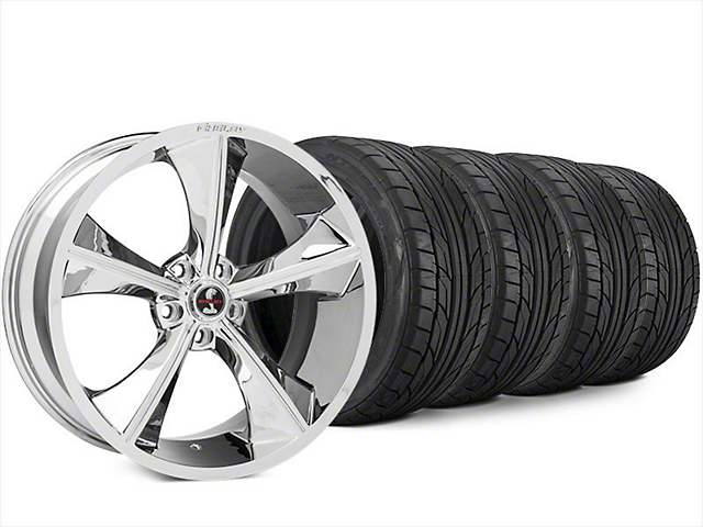 Staggered Shelby CS70 Chrome Wheel & NITTO NT555 G2 Tire Kit - 20x9/10 (15-17 All)