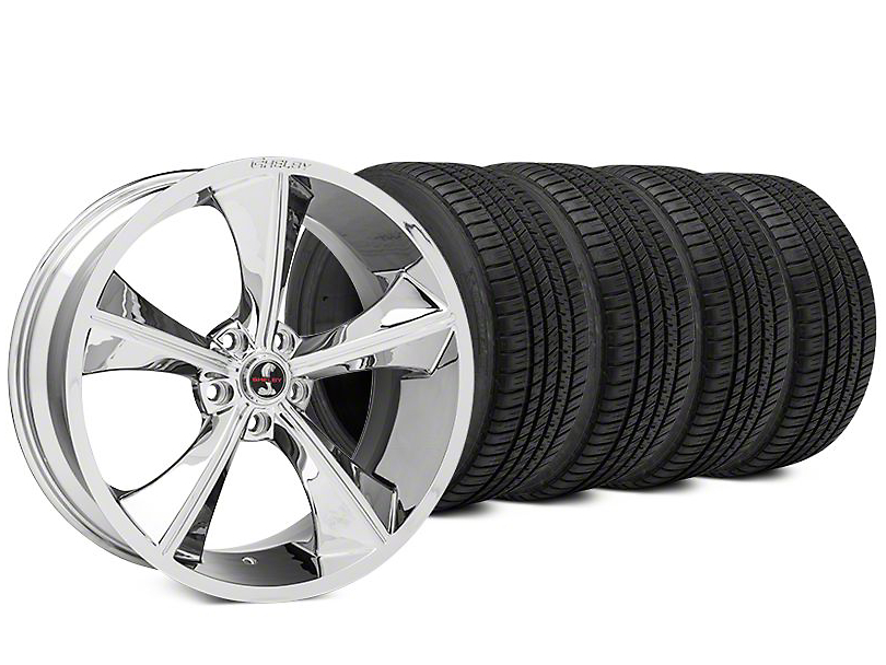 Staggered Shelby CS70 Chrome Wheel & Michelin Pilot Sport A/S 3+ Tire Kit - 20x9/10 (15-17 All)