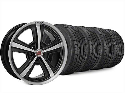 Staggered Shelby CS69 Hyper Black Wheel & NITTO NT555 G2 Tire Kit - 20x9/10 (15-17 All)