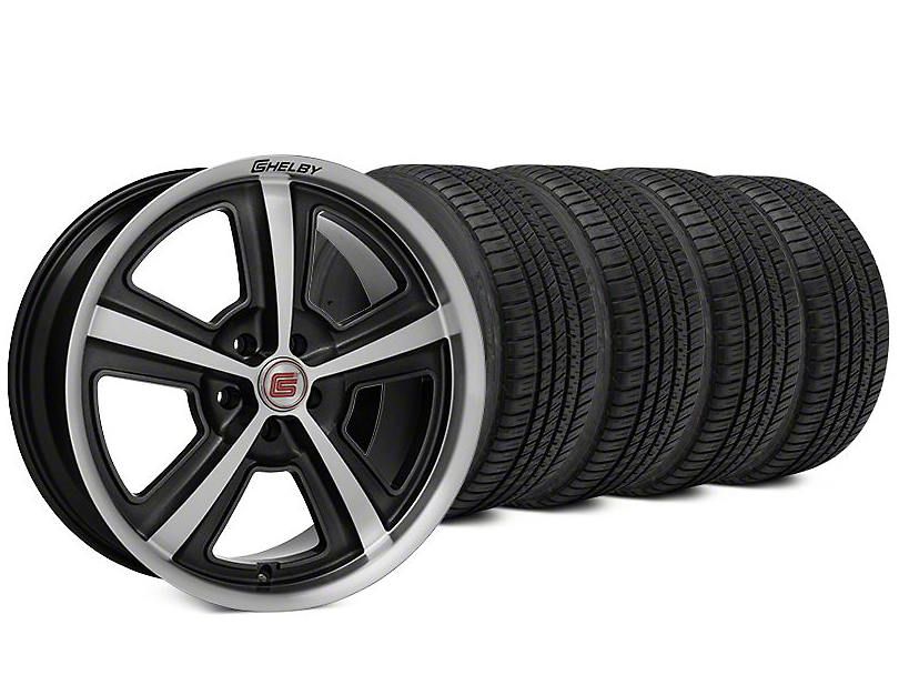 Staggered Shelby CS69 Hyper Black Wheel & Michelin Pilot Sport A/S 3+ Tire Kit - 20x9/10 (15-17 All)