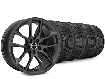 Staggered Magnetic Style Charcoal Wheel & NITTO NT555 G2 Tire Kit - 20x8.5/10 (15-17 All)