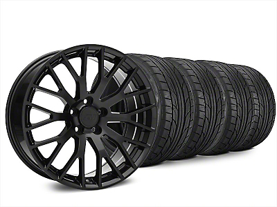 Staggered Performance Pack Style Black Wheel & NITTO NT555 G2 Tire Kit - 20x8.5/10 (15-18 All)