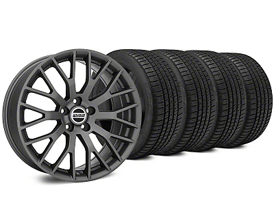 Staggered Performance Charcoal Wheel & Michelin Pilot Sport A/S 3+ Tire Kit - 19x8.5/10 (15-18 GT, EcoBoost, V6)