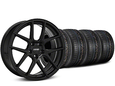 MMD Staggered Zeven Black Wheel & NITTO INVO Tire Kit - 19x8.5/10 (15-18 GT, EcoBoost, V6)